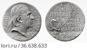 Medal offered by the anatomical society France to Jean-Martin Charcot... Редакционное фото, фотограф Jerónimo Alba / age Fotostock / Фотобанк Лори