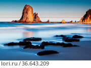 A beautiful afternoon on Glasshouse Rocks Beach near Narooma, NSW... Стоковое фото, фотограф Zoonar.com/Chris Putnam / easy Fotostock / Фотобанк Лори