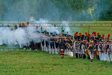 Реконструкция Бородинского сражения на праздновании 2009 летие битвы, Московская область, Бородино