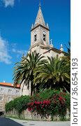 Church of Caldas de Reis on the Camino de Santiago trail, Galicia... Стоковое фото, фотограф Zoonar.com/Alexander Ludwig / easy Fotostock / Фотобанк Лори