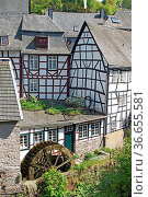 Monschau, typical village of the Eifel region, Germany, Europe. Стоковое фото, фотограф Zoonar.com/Alexander Ludwig / easy Fotostock / Фотобанк Лори