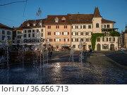 Fischmarktplatz, Rapperswil, Kanton St. GallenSchweiz/Rapperswil, ... Стоковое фото, фотограф Zoonar.com/Günter Lenz / age Fotostock / Фотобанк Лори