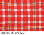 Tuch mit Karomuster - Cloth with checks. Стоковое фото, фотограф Zoonar.com/lantapix / easy Fotostock / Фотобанк Лори