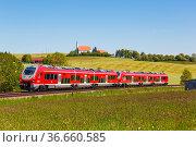 Aitrang, Deutschland - 1. Juni 2021: Pesa Link Regionalbahn Zug der... Стоковое фото, фотограф Zoonar.com/Markus Mainka / age Fotostock / Фотобанк Лори