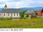 Schwarzwald, Baden-Württemberg, Hochschwarzwald, Ortschaft mit Landhäuser... Стоковое фото, фотограф Zoonar.com/Bildagentur Geduldig / easy Fotostock / Фотобанк Лори