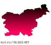 Karte von Slowenien. Стоковое фото, фотограф Zoonar.com/Robert Biedermann / easy Fotostock / Фотобанк Лори
