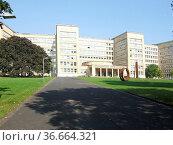 Universität ,Frankfurt, johann-wolfgang-goethe-universität, uni, gebäude... Стоковое фото, фотограф Zoonar.com/Volker Rauch / easy Fotostock / Фотобанк Лори