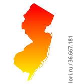 Karte von New Jersey. Стоковое фото, фотограф Zoonar.com/Robert Biedermann / easy Fotostock / Фотобанк Лори