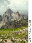 High mountain landscape in the Dolomites. Стоковое фото, фотограф Zoonar.com/Péter Gudella / easy Fotostock / Фотобанк Лори
