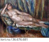 Woman, c. 1915 by Pierre August Renoir, France, oil on canvas. Редакционное фото, фотограф Frederic Soreau / age Fotostock / Фотобанк Лори