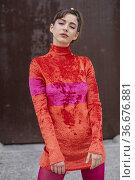 Mariana di Girolamo poses for a photo session on September 28, 2021... Редакционное фото, фотограф NACHO LOPEZ / age Fotostock / Фотобанк Лори
