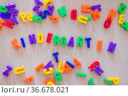 Colorful letters with the word ?Kindergarten? Стоковое фото, фотограф Zoonar.com/Patrick Daxenbichler / easy Fotostock / Фотобанк Лори