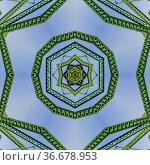 Symmetrical angular circle design created from doubling a photo of... Стоковое фото, фотограф Zoonar.com/Jason C. Finn / easy Fotostock / Фотобанк Лори