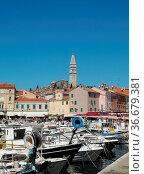 Rovinj, schiff, boot, segelschiff, segelboot, hafen, Istrien, kroatien... Стоковое фото, фотограф Zoonar.com/Volker Rauch / easy Fotostock / Фотобанк Лори