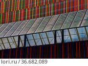 Modern museum building in Munich in Germany. Symmetry. Minimalism. Стоковое фото, фотограф Zoonar.com/Rudolf Ernst / age Fotostock / Фотобанк Лори