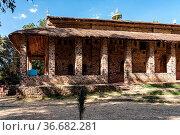 Church of Debre Berhan Selassie in Gondar, Ethiopia. Стоковое фото, фотограф Zoonar.com/Rudolf Ernst / age Fotostock / Фотобанк Лори