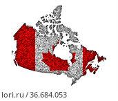 Karte und Fahne von Kanada auf Mohn - Map and flag of Canada on poppy... Стоковое фото, фотограф Zoonar.com/lantapix / easy Fotostock / Фотобанк Лори