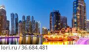 Dubai, Vereinigte Arabische Emirate - 25. Mai 2021: Dubai Marina Hafen... Стоковое фото, фотограф Zoonar.com/Markus Mainka / easy Fotostock / Фотобанк Лори