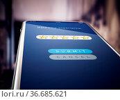 Five stars rating screen on smartphone. 3D illustration. Стоковое фото, фотограф Zoonar.com/Cigdem Simsek / easy Fotostock / Фотобанк Лори