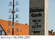 Paulinenquelle in Bad Salzuflen. Стоковое фото, фотограф Zoonar.com/Martina Berg / easy Fotostock / Фотобанк Лори