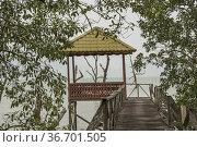 Rest shelter, Bako National Park, Sarawak, East Malaysia, Borneo. Стоковое фото, фотограф Chua Wee Boo / age Fotostock / Фотобанк Лори