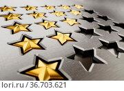 Rating stars table with 5,4,3,2,1 stars. 3D illustration. Стоковое фото, фотограф Zoonar.com/Cigdem Simsek / easy Fotostock / Фотобанк Лори