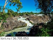 Somphamit Waterfalls or Liphi Waterfalls at Don Khone island , Laos... Стоковое фото, фотограф Zoonar.com/Rudolf Ernst / easy Fotostock / Фотобанк Лори