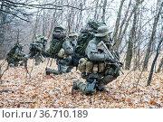 Group of jagdkommando soldiers Austrian special forces during the... Стоковое фото, фотограф Oleg Zabielin / easy Fotostock / Фотобанк Лори