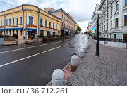 Kazan, Russia - June 10, 2018: View on Bauman pedestrian street in... Стоковое фото, фотограф Zoonar.com/Alexander Blinov / easy Fotostock / Фотобанк Лори