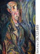 Le Vieillard, dit aussi L'Homme en prière, 1920, Chaim Soutine, Avignon... Редакционное фото, фотограф Frederic Soreau / age Fotostock / Фотобанк Лори