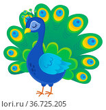 Stylized peacock topic image 1 - picture illustration. Стоковое фото, фотограф Zoonar.com/Klara Viskova / easy Fotostock / Фотобанк Лори