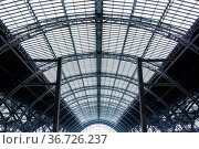 Leipzig Bahnhof Train Station Wireframe Structure Complex Abstract... Стоковое фото, фотограф Zoonar.com/Hunter Bliss / easy Fotostock / Фотобанк Лори