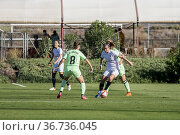 Partido de Liga Iberdrola. 6º Jornada. Sevilla FC Femenino - Athletic... Редакционное фото, фотограф Salvador López Medina / age Fotostock / Фотобанк Лори