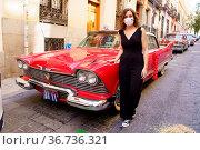 Isabel Diaz Ayuso visits Little Cuba during Hispanidad 2021 Festival... Редакционное фото, фотограф Oscar Gonzalez / WENN / age Fotostock / Фотобанк Лори