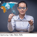 Social networks and online interactions concept. Стоковое фото, фотограф Elnur / Фотобанк Лори