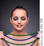 Beautiful woman with jewellery in beauty concept. Стоковое фото, фотограф Elnur / Фотобанк Лори