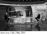 The candidate for mayor of Rome for center-left Roberto Gualtieri... Редакционное фото, фотограф Maria Laura Antonelli / AGF/Maria Laura Antonelli / age Fotostock / Фотобанк Лори