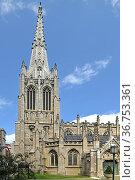Grace Church, historic parish church in Manhattan, New York City which is part of Episcopal Diocese of New York. Стоковое фото, фотограф Валерия Попова / Фотобанк Лори