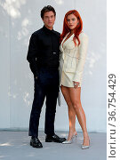 Bella Thorne attending Time is Up photocall with co-star fiancé Benjamin... Редакционное фото, фотограф KIKA / WENN / age Fotostock / Фотобанк Лори