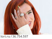 Actress Bella Thorne during the Time Is Up photocall. 16th annual... Редакционное фото, фотограф Antonelli / AGF/Maria Laura Antonelli / age Fotostock / Фотобанк Лори