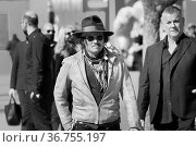 Johnny Depp during the premiere of 'Puffins' at the 16th annual Rome... Редакционное фото, фотограф AGF/Maria Laura Antonelli / age Fotostock / Фотобанк Лори