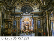 Interior, altar of Church of Saint Mary Magdalene and Saint Theresa... Стоковое фото, фотограф Arthur S. Ruffino / age Fotostock / Фотобанк Лори