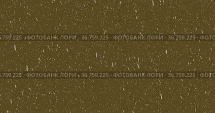 Image of snow falling with copy space over brown background