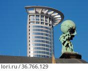 Atlas, hauptbahnhof, Hochhaus, Frankfurt, wolkenkratzer, fassade,... Стоковое фото, фотограф Zoonar.com/Volker Rauch / easy Fotostock / Фотобанк Лори