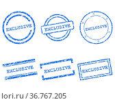 Exclusive Stempel. Стоковое фото, фотограф Zoonar.com/Robert Biedermann / easy Fotostock / Фотобанк Лори