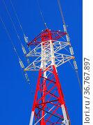 Hochspannungsmast - pylon 07. Стоковое фото, фотограф Zoonar.com/Liane Matrisch / easy Fotostock / Фотобанк Лори