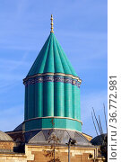 Top of Mevlana mosque in Konya, Turkey. Стоковое фото, фотограф Zoonar.com/Valeriy Shanin / age Fotostock / Фотобанк Лори