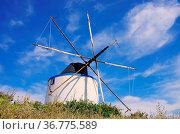 Santiago de Cacem Windmuehle - Santiago de Cacem windmill 01. Стоковое фото, фотограф Zoonar.com/Liane Matrisch / easy Fotostock / Фотобанк Лори