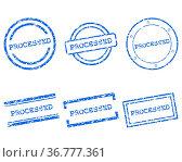 Processed Stempel. Стоковое фото, фотограф Zoonar.com/Robert Biedermann / easy Fotostock / Фотобанк Лори