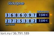 Lotto: Ziehung der Lottozahlen, Lottokugeln, Lostrommel, Glücksspirale... Стоковое фото, фотограф Zoonar.com/Bildagentur Geduldig / easy Fotostock / Фотобанк Лори